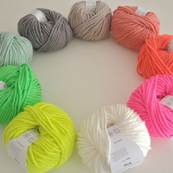 Rico essentials big super chunky bulky yarn wool neon shades available