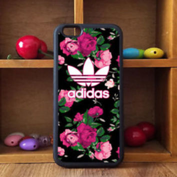 Pink Rose Adidas Floral For iPhone 6/6s 6/6s+ 7/7+ 8/8+ Print On Hard Case