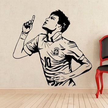 Neymar Wall Decal Football Player Barcelona Vinyl Sticker home Decor Mural