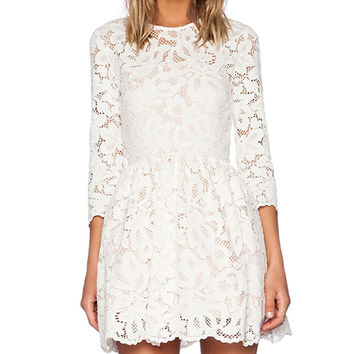 Alexis Vincent Lace Dress in White