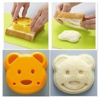 1set Cute Smiley Face Bear Shape Sandwich Mold Bread Cutter Tool Maker Mold Cutter Craft-Gift