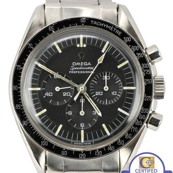 Vintage 1967 Omega Pre-Moon Speedmaster DON90 Applied Logo 145.012 67 SP Watch