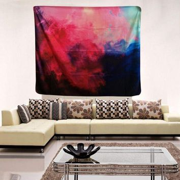 Nebula Space Neon Clouds Tapestry Polyester Wall Art