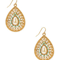 Opulent Faux Stone Teardrop Earrings