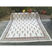 Beautiful block printed bed sheet