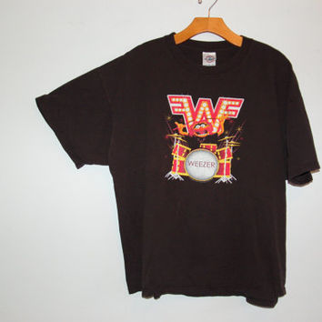WEEZER MUPPETS band tee with back design. WEEZER shirt with muppets