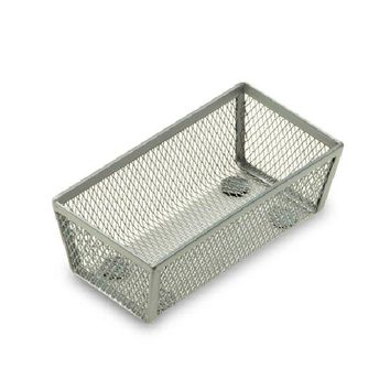 "Honey-Can-Do™ KCH-02158 Steel Wire Mesh Drawer Organizer, Silver, 6"" x 3"" x 2"""