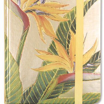 """Bird of Paradise"" Foil Notebook With Elastic Band"