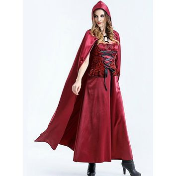 Halloween Costume Role Little Red Riding Hood