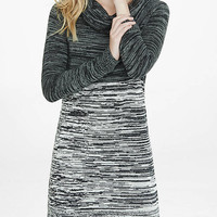 Cowl Neck Marl Color Block Sweater Dress from EXPRESS