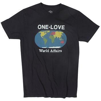 One Love Planet black graphic tee