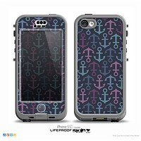 The Blue & Pink Vector Anchor Collage Skin for the iPhone 5c nüüd LifeProof Case