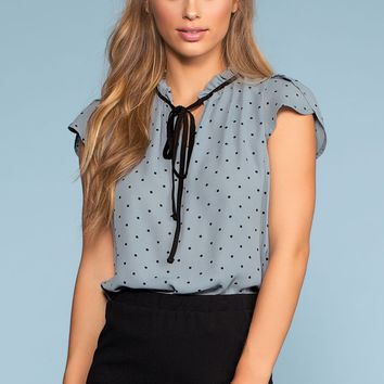 Swiss Connection Tie-Front Top - Blue