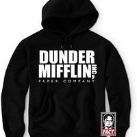 ~ Dunder Mifflin The Office Hoodie Sweatshirt & Sticker