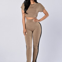 Blind Date Leggings - Taupe