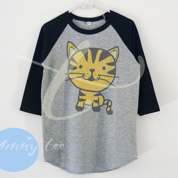 Little tiger shirt wild animal cartoon raglan shirt for kids toddlers boys girls tops Baby clothes