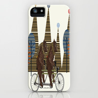 grizzly days lets tandem iPhone & iPod Case by bri.buckley