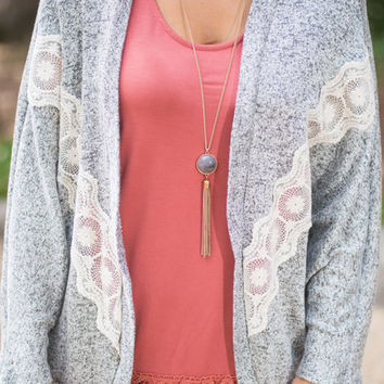 Simple Yet Sweet Cardigan, Gray