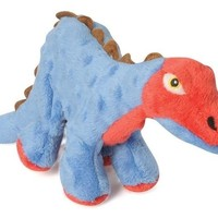 goDog Dinos Spike Stegosaurus Dog Toy Sz: Small Blue
