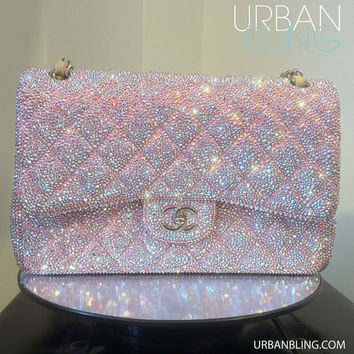 Urban Bling Customized Jumbo Chanel Flap Bag Swarovski Strassing SERVICE Only