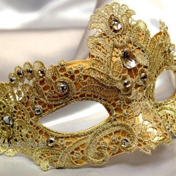 Beautiful Lace Masquerade Mask- Venetian Mask Brocade Lace Masquerade Ball Mask