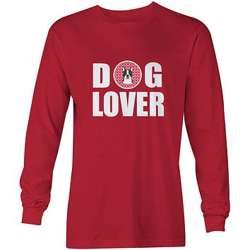 Boston Terrier Dog Lover Long Sleeve Red Unisex Tshirt Adult Medium BB5273-LS-RED-M