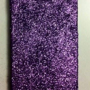 Purple Glitter iPhone 4 4s Hard Cover Case by kaylafenton on Etsy