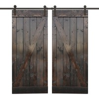 Z Bar Solid Wood Panelled Wood Slab Interior Door