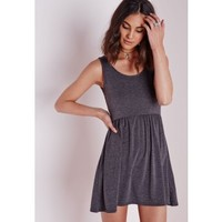 Sleeveless Jersey Skater Dress Dark Grey - Dresses - Skater Dresses - Missguided