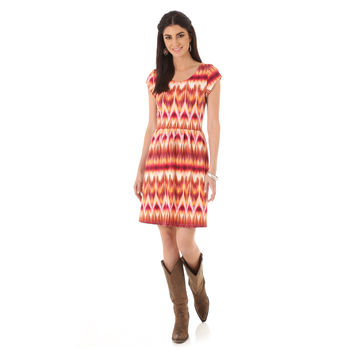 Wrangler Western Fashion Cap Sleeve Skater Dress