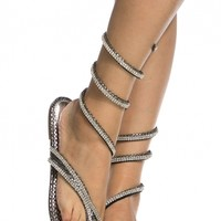 Silver Wrap Around Embellished Thong Sandals @ Cicihot Sandals Shoes online store sale:Sandals,Thong Sandals,Women's Sandals,Dress Sandals,Summer Shoes,Spring Shoes,Wooden Sandal,Ladies Sandals,Girls Sandals,Evening Dress Shoes