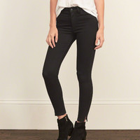 A&F High Rise Ankle Jeans