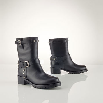 STUDDED VACHETTA REACE BOOT