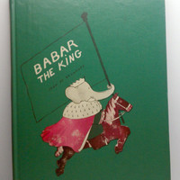 1963 Babar the King Vintage Childrens Book by VintageWoods on Etsy