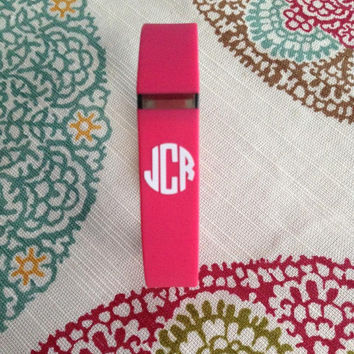 Fitbit Monogram Decal  | Fitness Monogram Decal | Fitchicks | Preppy Decal | Preppy Monograms | Fitness Decal | Preppy Decal | Armband Decal