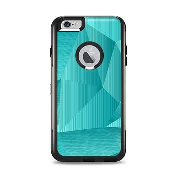 The Blue Geometric Pattern Apple iPhone 6 Plus Otterbox Commuter Case Skin Set