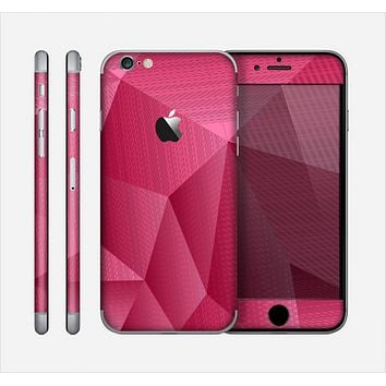 The Pink Geometric Pattern Skin for the Apple iPhone 6