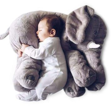 60cm Baby Elephant Pillow Animal Style Cushion Doll Stuffed Elephant Plush Kids Toy for Children Room Bed Decoration Toy