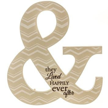 """Happily Ever After"" Ampersand Sign"