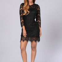 Sweet Caroline Dress - Black