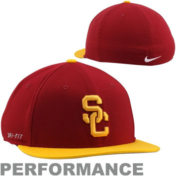 Nike USC Trojans Performance Players True Swoosh Performance Flex Hat - Cardinal