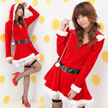 Christmas Women's Fashion Red Long Sleeve Costume [10236798924]