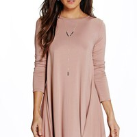 April Long Sleeve Swing Dress