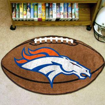 Denver Broncos Football Mat