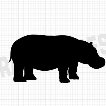 Hippo Decal - Hippo Stickers - Animal Decals