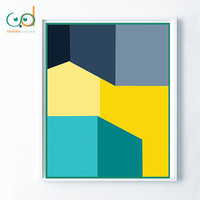 Geometric Minimalist Poster Art, Minimalist Art, Yellow Blue Printable, Geometric office decor, Minimalist Teen Gift Room, Modern Design Art