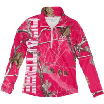 Walmart: Realtree Women's AP Hot Pink Quarter Zip Jacket
