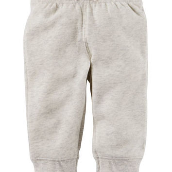 Brushed Back Fleece Pull-On Pants