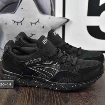 Asics Gel-Lyte Pig Hosiery Vintage Retro Stitching Running Shoes F-A36H-MY full black