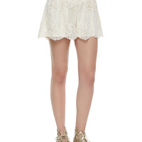 Carole Lace Shorts, Natural, Size:
